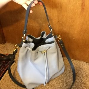 Baby blue French connection bucket bag